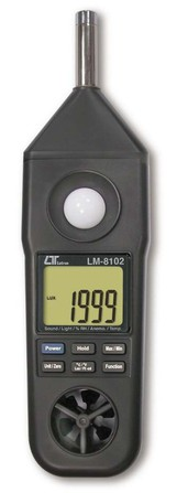 5 in 1 meter, Sound level meter, Humidity, Light, Anemometer, Type
