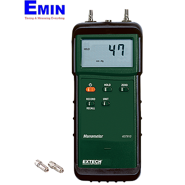 Extech 407910 Heavy Duty Differential Pressure Manometer 29Psi (2000mbar)