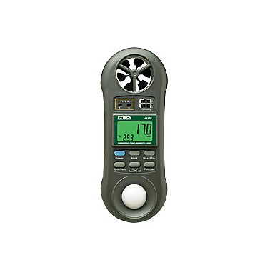 Extech 45170 Pocket Hygro-Thermo-Anemometer-Light Meter