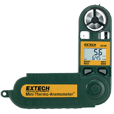 EXTECH 45158 Mini Thermo-Anemometer with Humidity (28m/s)